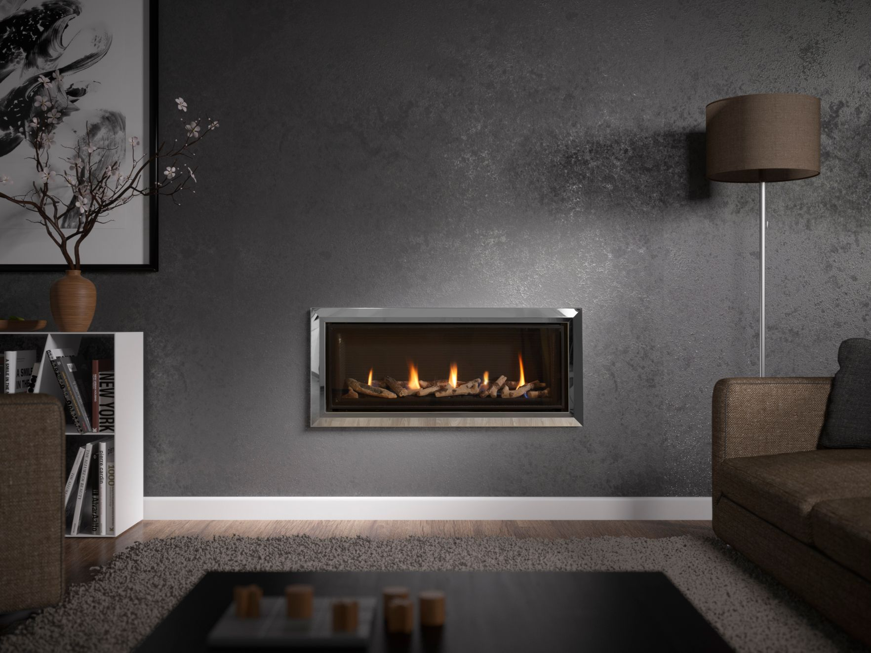Infinity 890 Balance Flue Gas Fire, Hole in the Wall Gas Fire