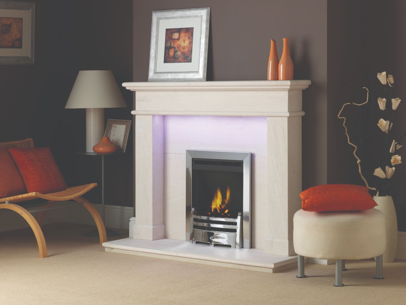 Balmoral Small Limestone Fireplace Surround
