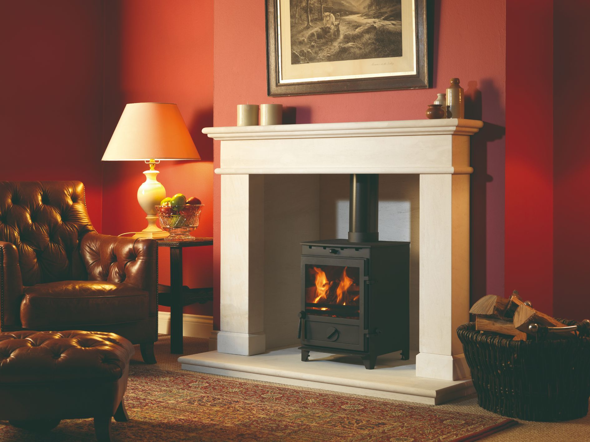 Balmoral Limestone Chamber Fireplace Surround