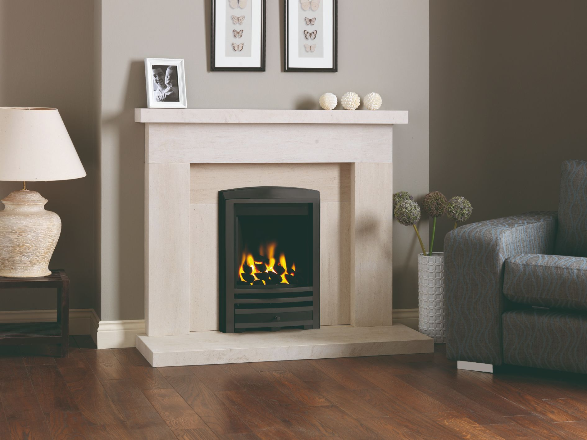 Beckford 2 Limestone Fireplace Surround