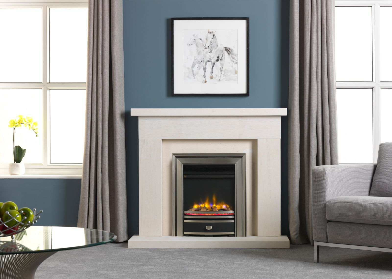 4D Ecoflame Inset Electric Fire in Electric Fireplace Surround