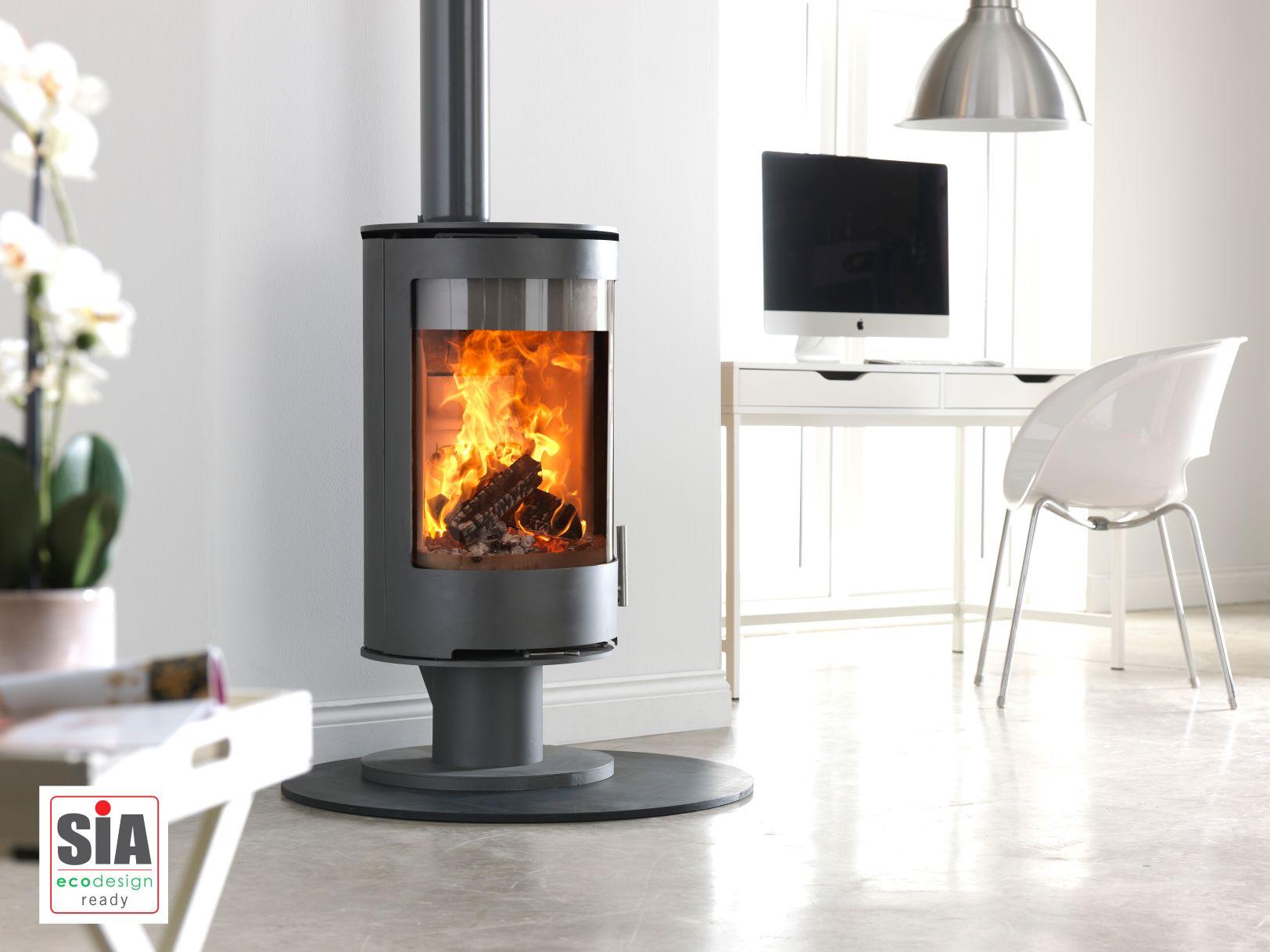 Purevision PVR Pedestal Log Burner, Wood Burner, Stove