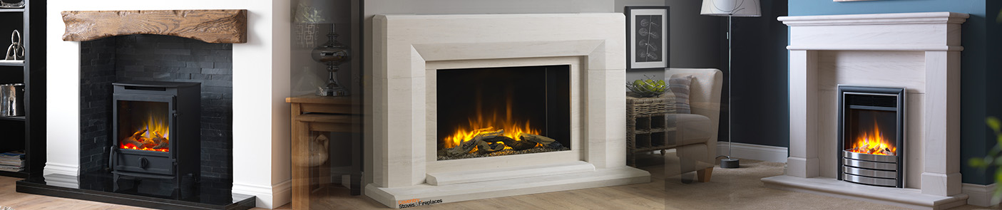 Electric Stove, Electric Fire, Inset Electric Fireplace Surround