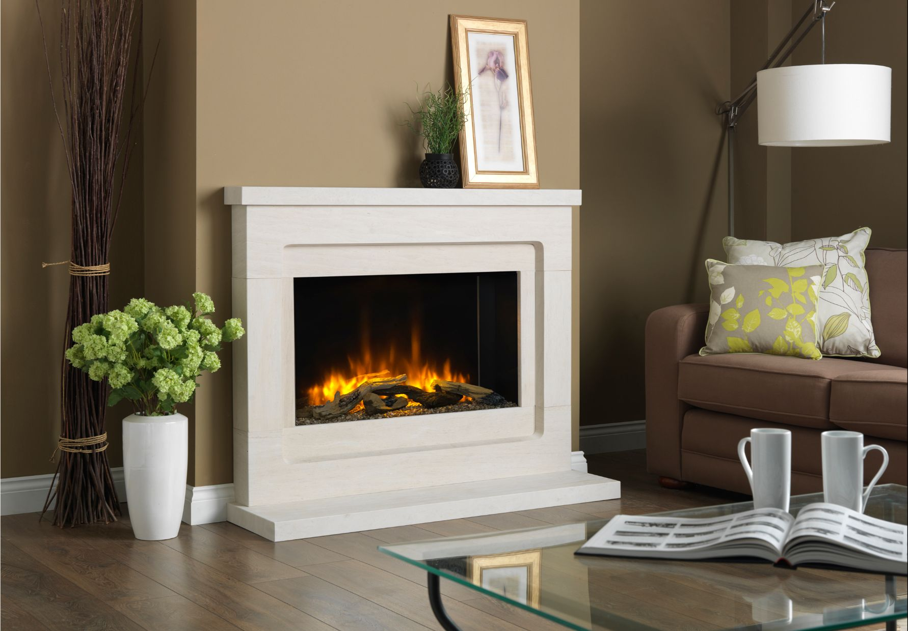 P8 Electric Fire, in Modern Electric Suite