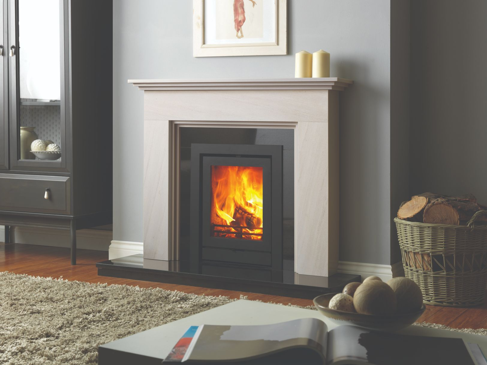 FPi5 Katia Limestone Fireplace Surround