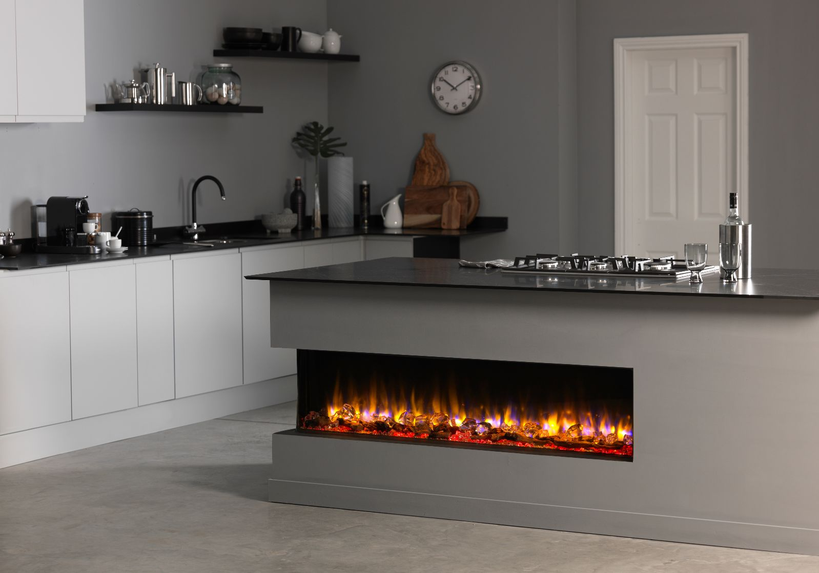 Infinity Landscape Electric Fire For Kitchen