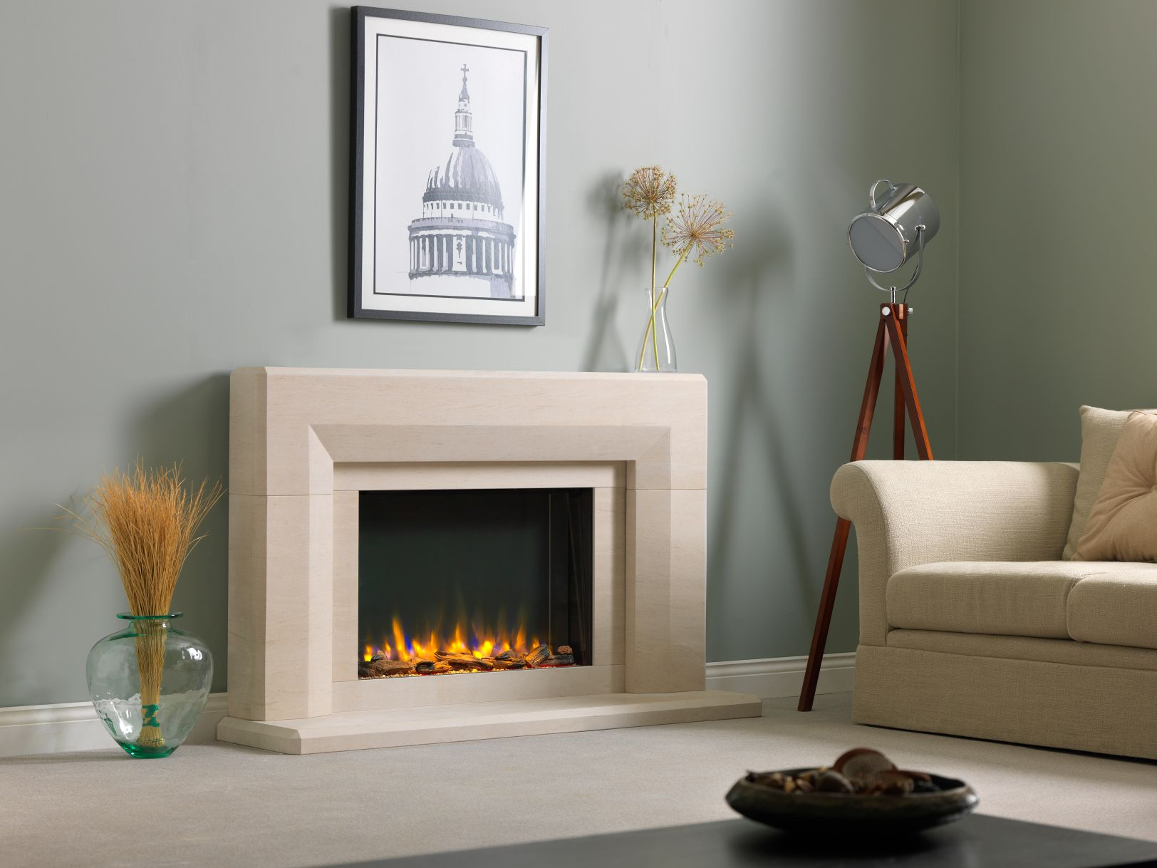 Infinity 780 Electric Fireplace Suite in Edgemond Electric Surround
