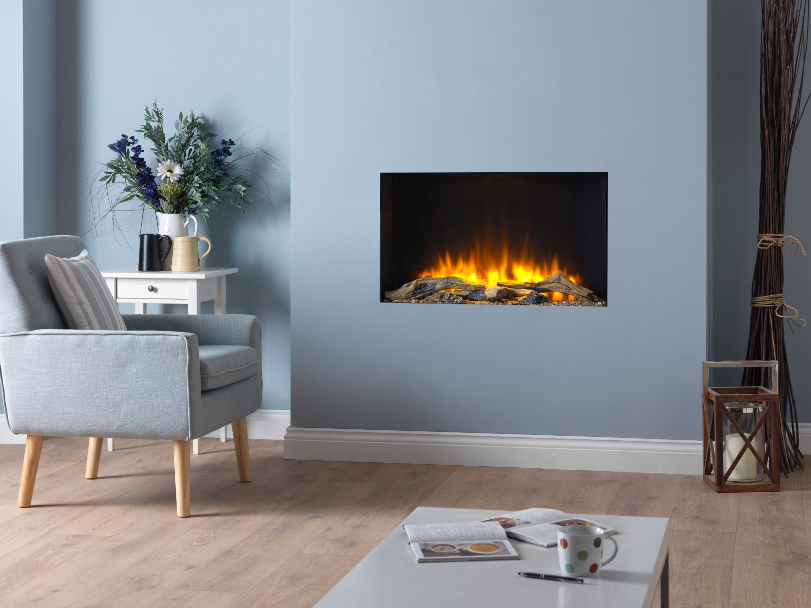Infinity 780 Edgeless Electric Fire Hole in the Wall Electric