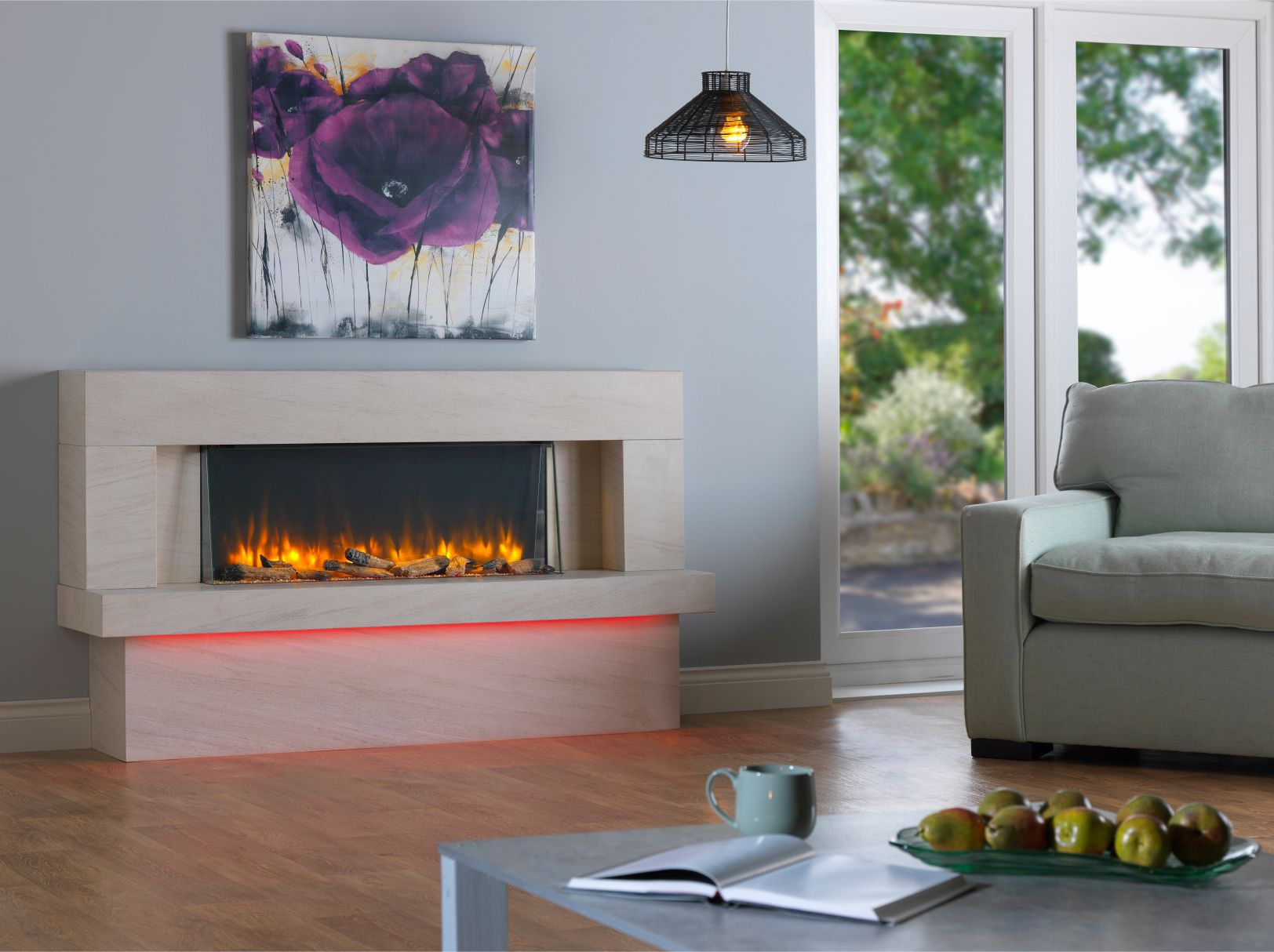 Infinity 890 Electric Fireplace Suite