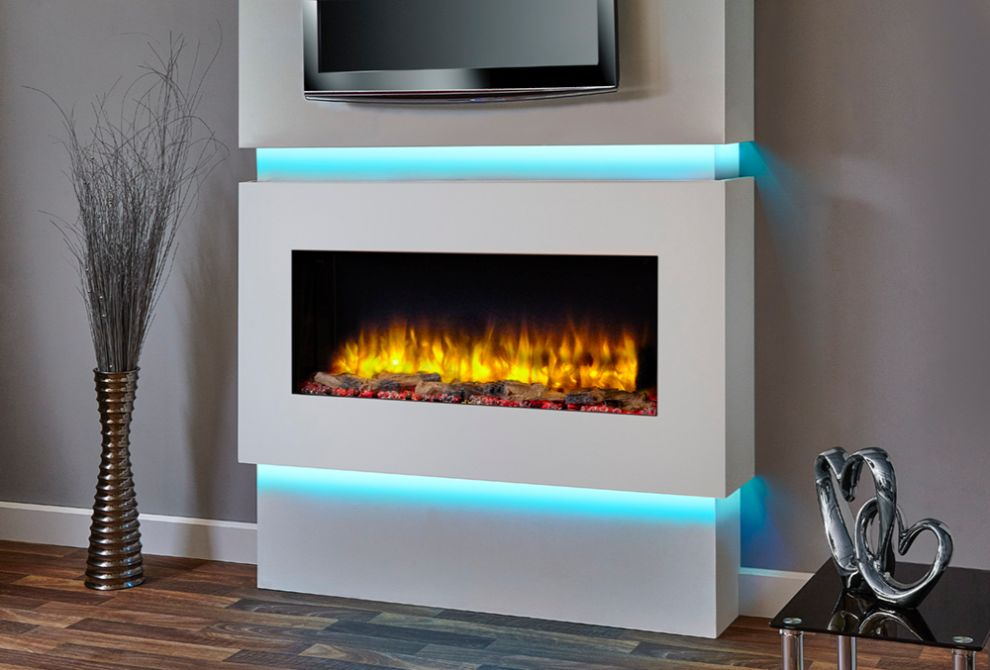 Infinity 890E Electric Wall Mounted Fire with Lights