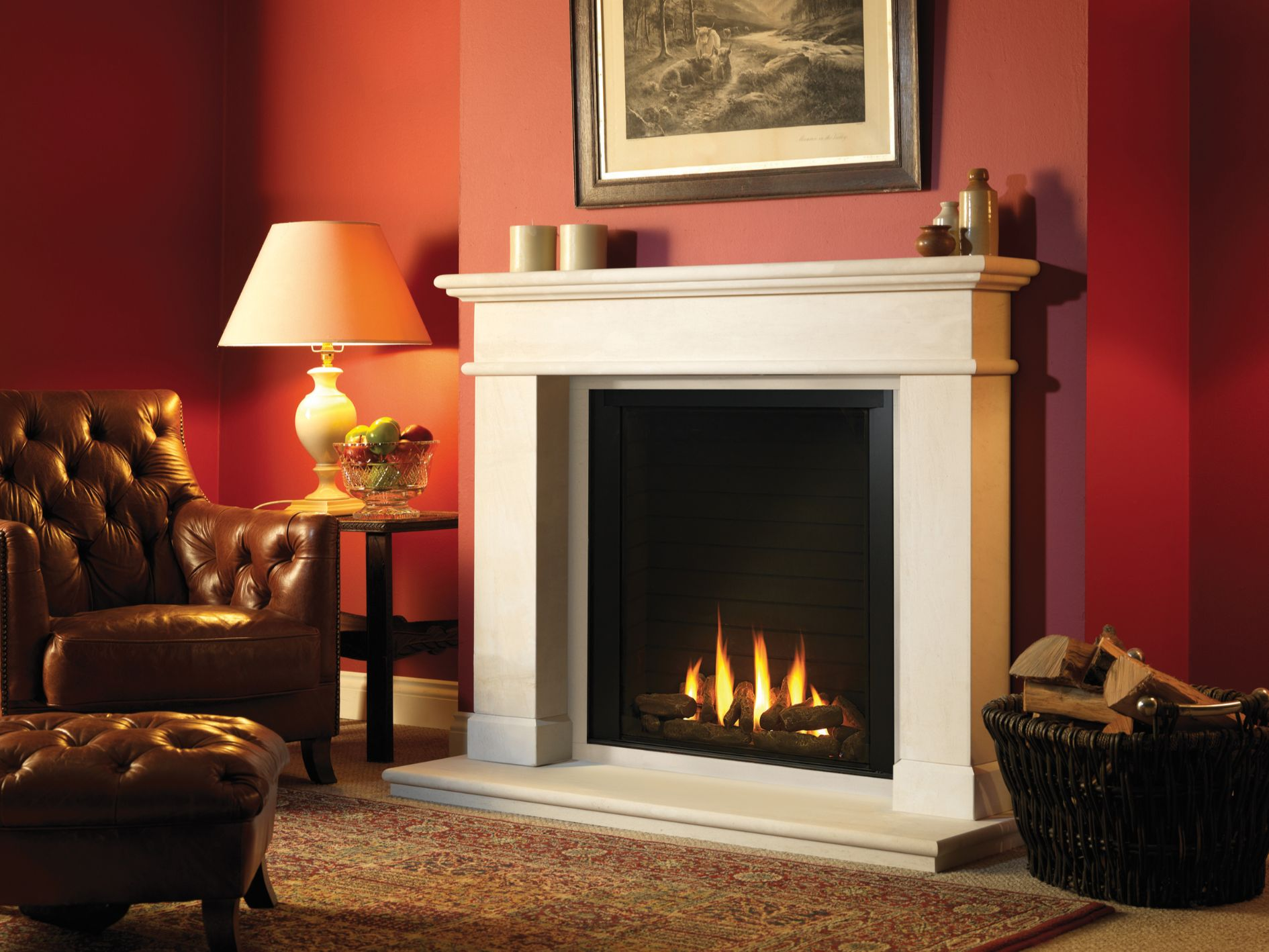 Paragon P9 Gas Fire, Balmoral Gas Fireplace Suite