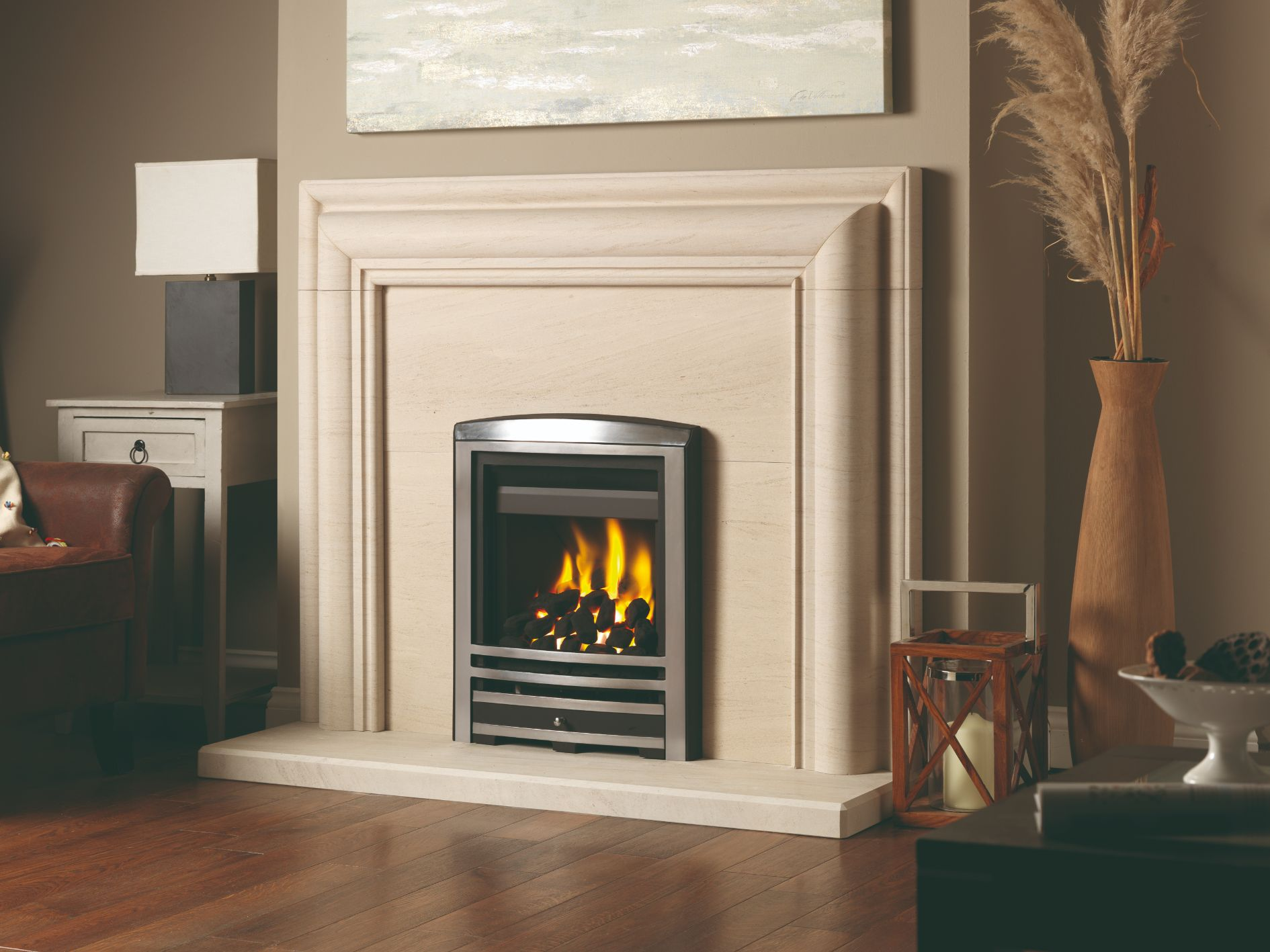 Rembrandt Limestone Fireplace Suite