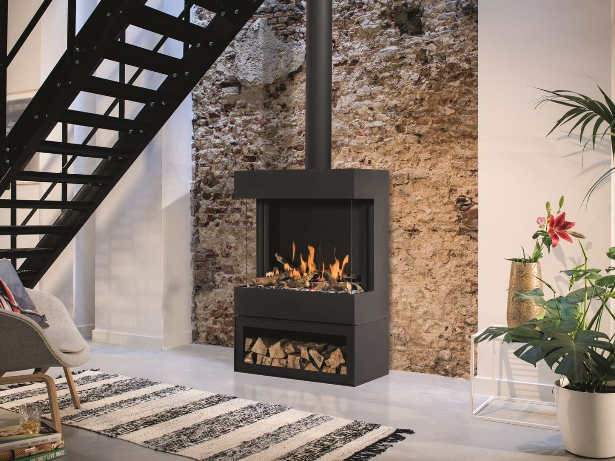 BOX gas Panorama 73-52 Gas Fire with Log Store