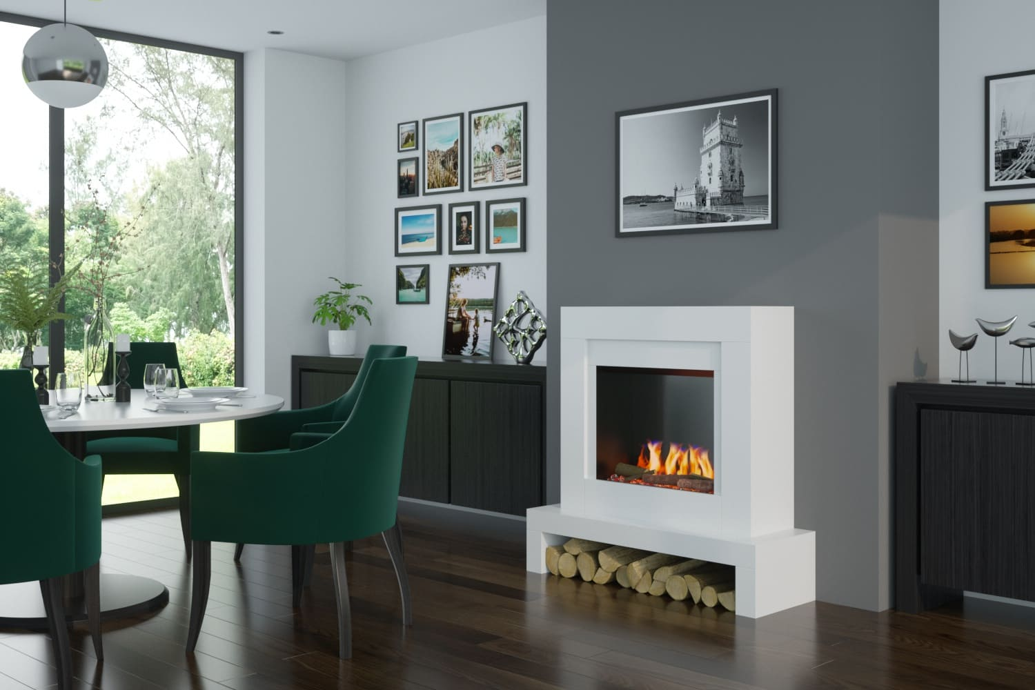 Emerson 22 Electric Fireplace Suite