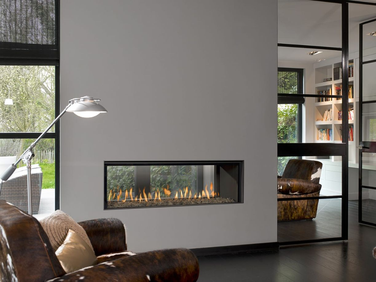 Horizon Bell Large Tunnel 3 Room Divider Gas Fire