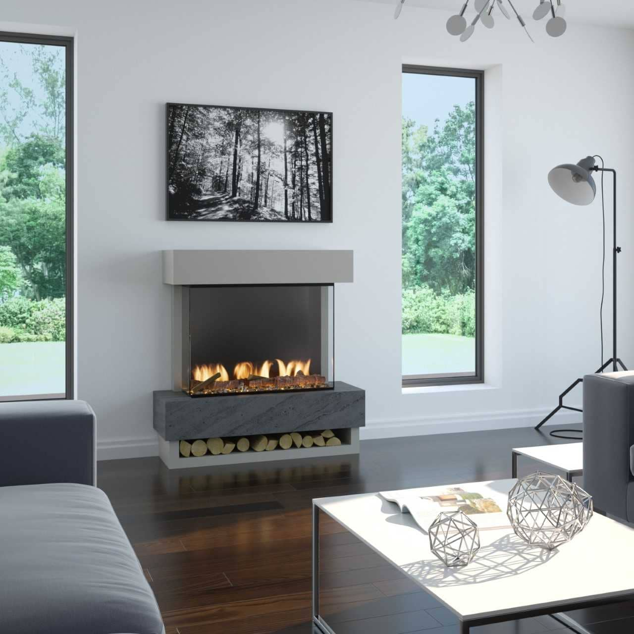 Icon Freestanding Electric Fireplace Suite Coventry