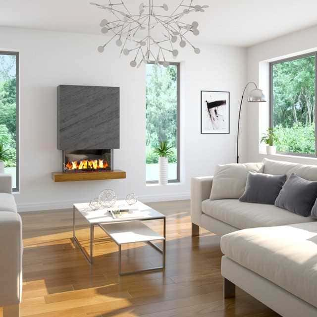 Roc Slate Effect Wall Mounted Electric Fire