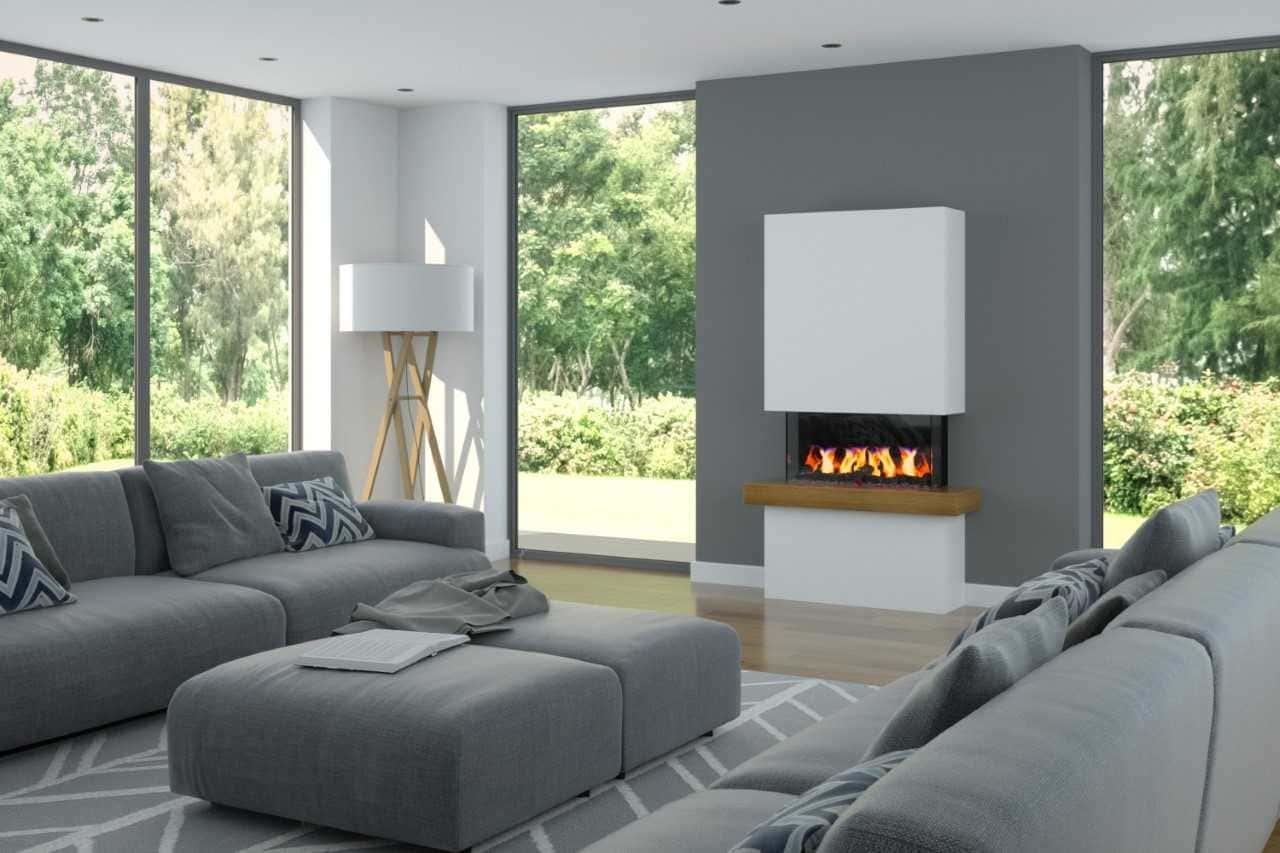 Roc White Electric Fire