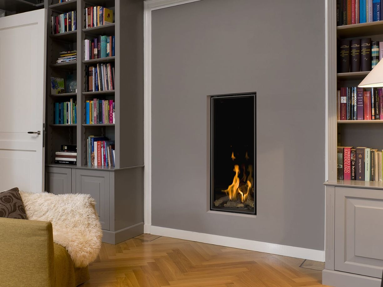 Vertical Bell Medium 3 Hole in the Wall Gas Fire