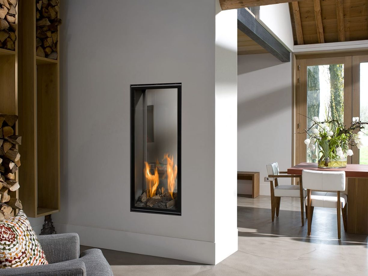 Vertical Bell Medium Tunnel 3 Hole in the Wall Gas Fire Room Divider