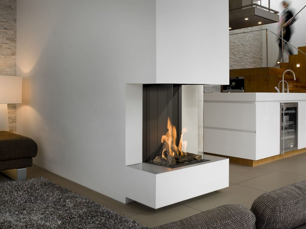 View Bell Vertical 3 Room Divider Gas Fire