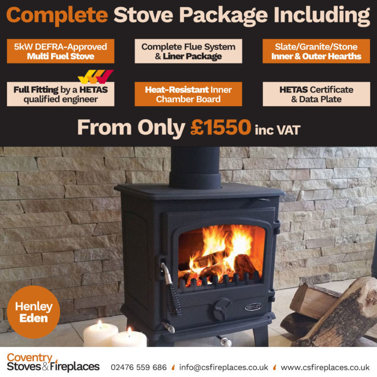 Henley Eden Multi Fuel Stove Package Detailed Log Burner Image