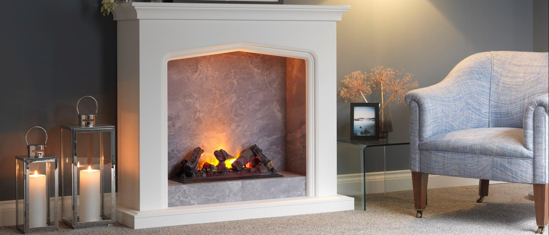 Italia Arona Opti-myst Fireplace Electric Suite