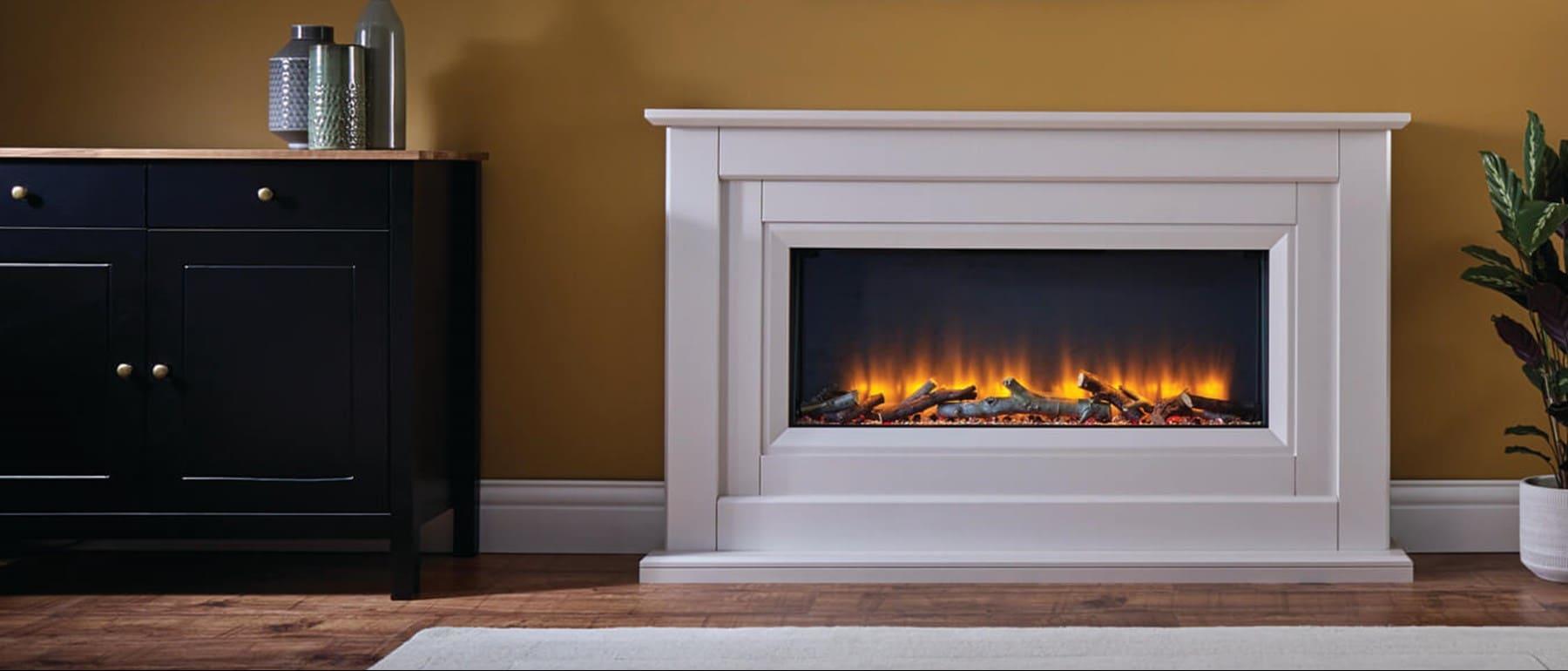 Italia Delfina Electric Fireplace Suite