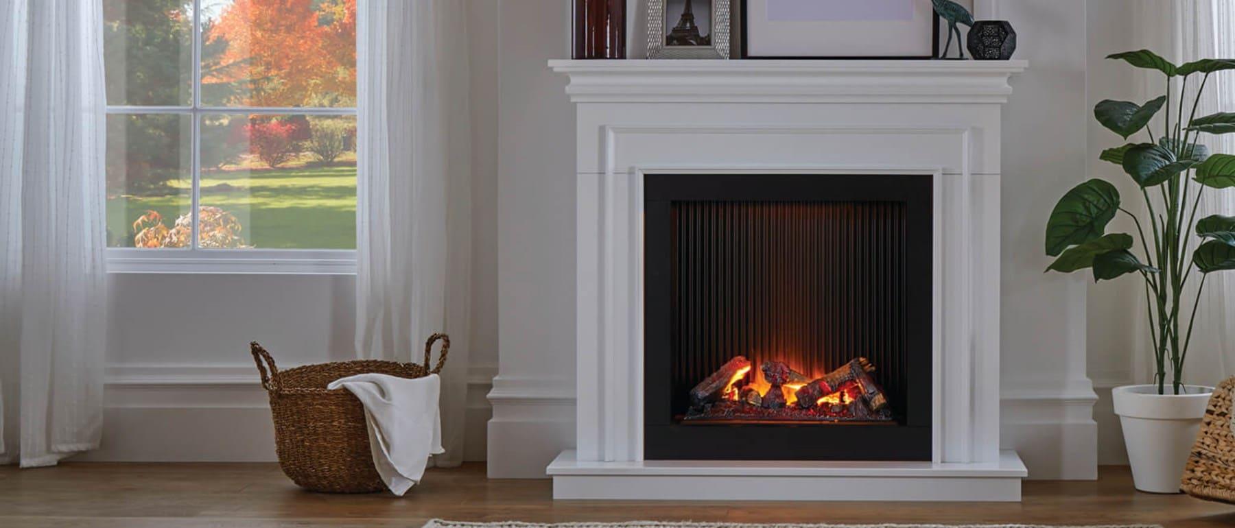 Italia Genoa Opti-myst Fireplace Electric Suite