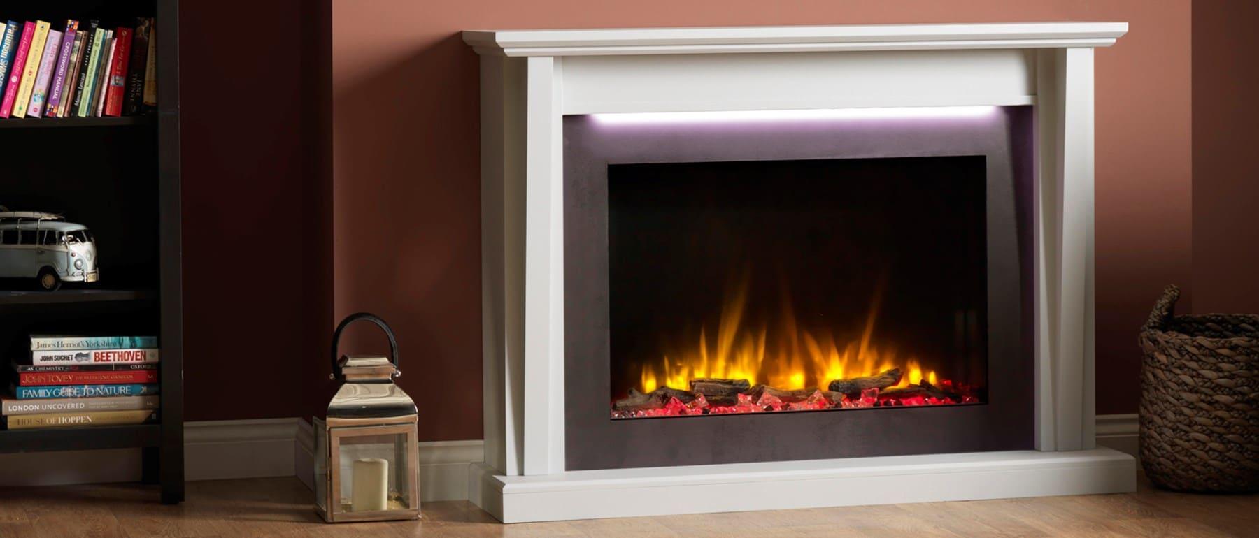 Italia Merone Electric Fireplace Suite