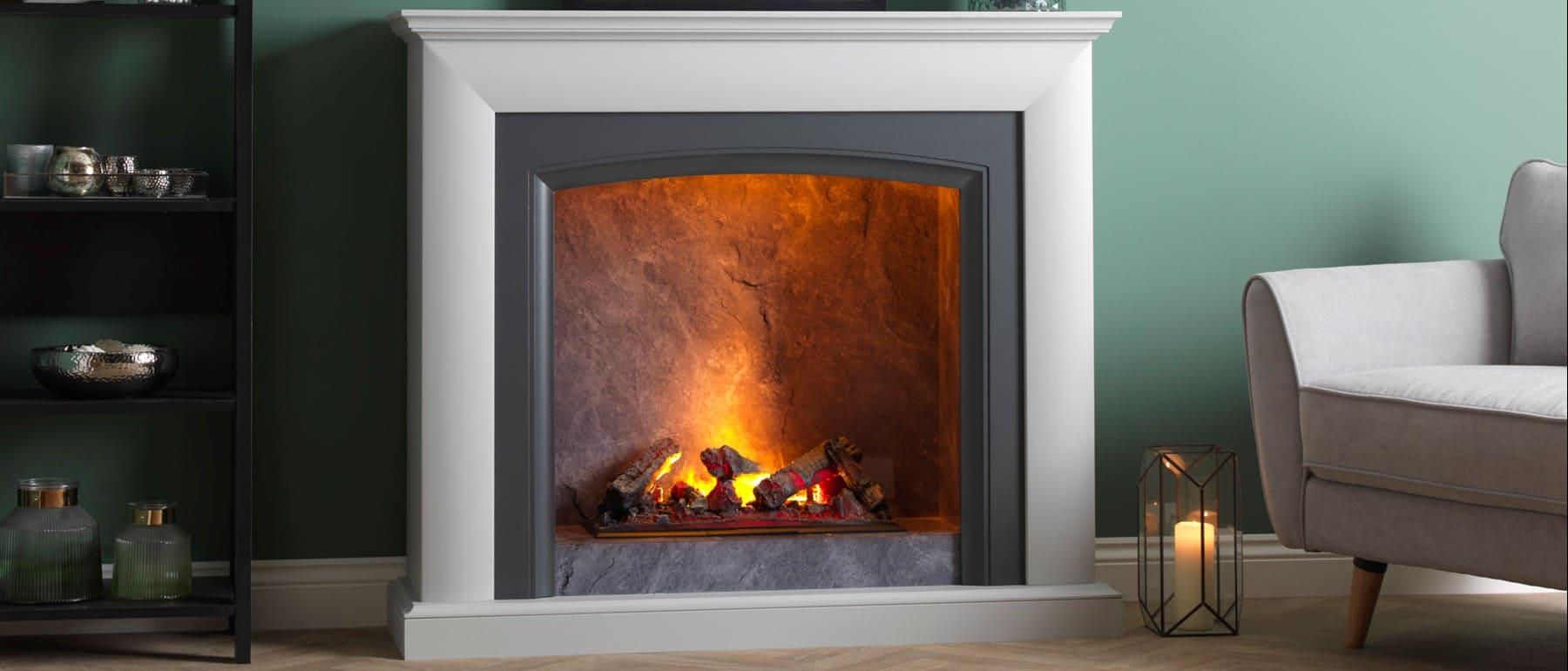 Italia Salerino Optimyst Electric Fireplace Suite