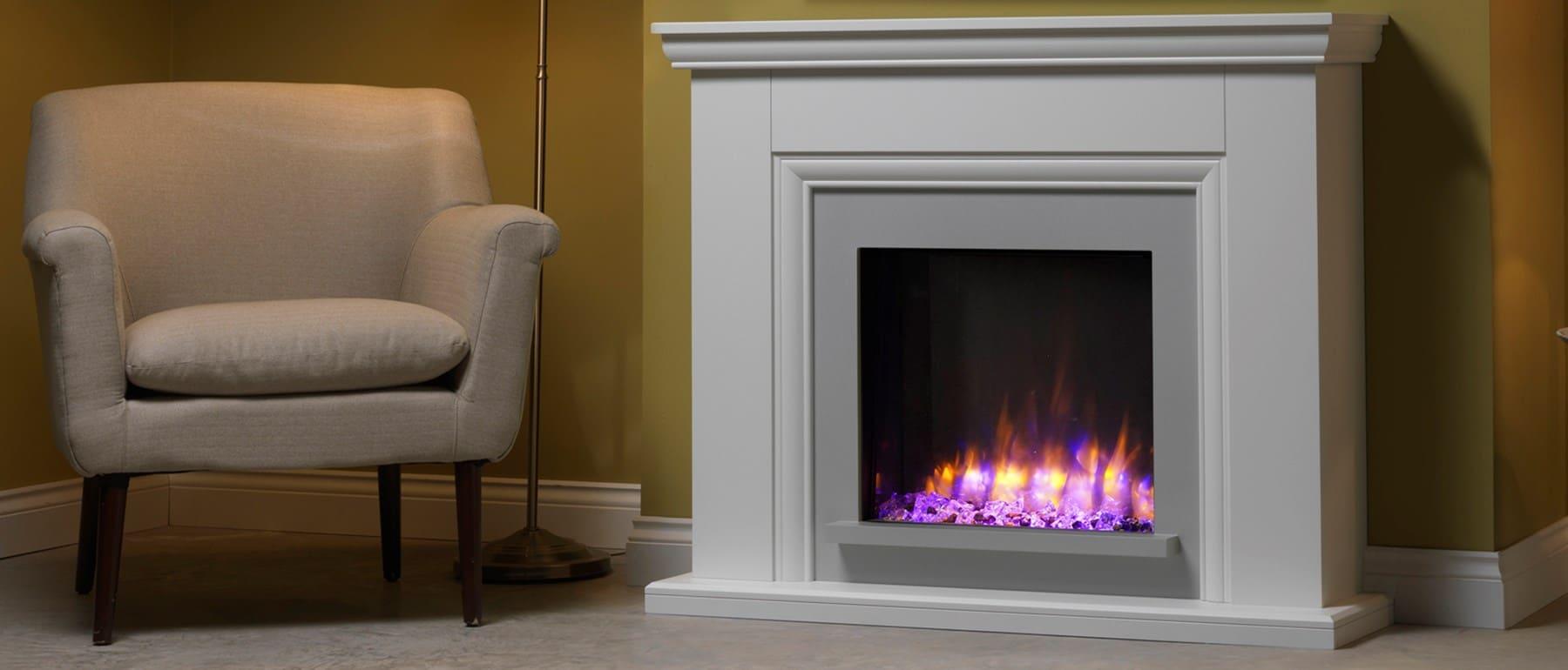 Italia Valdina Electric Fireplace Suite