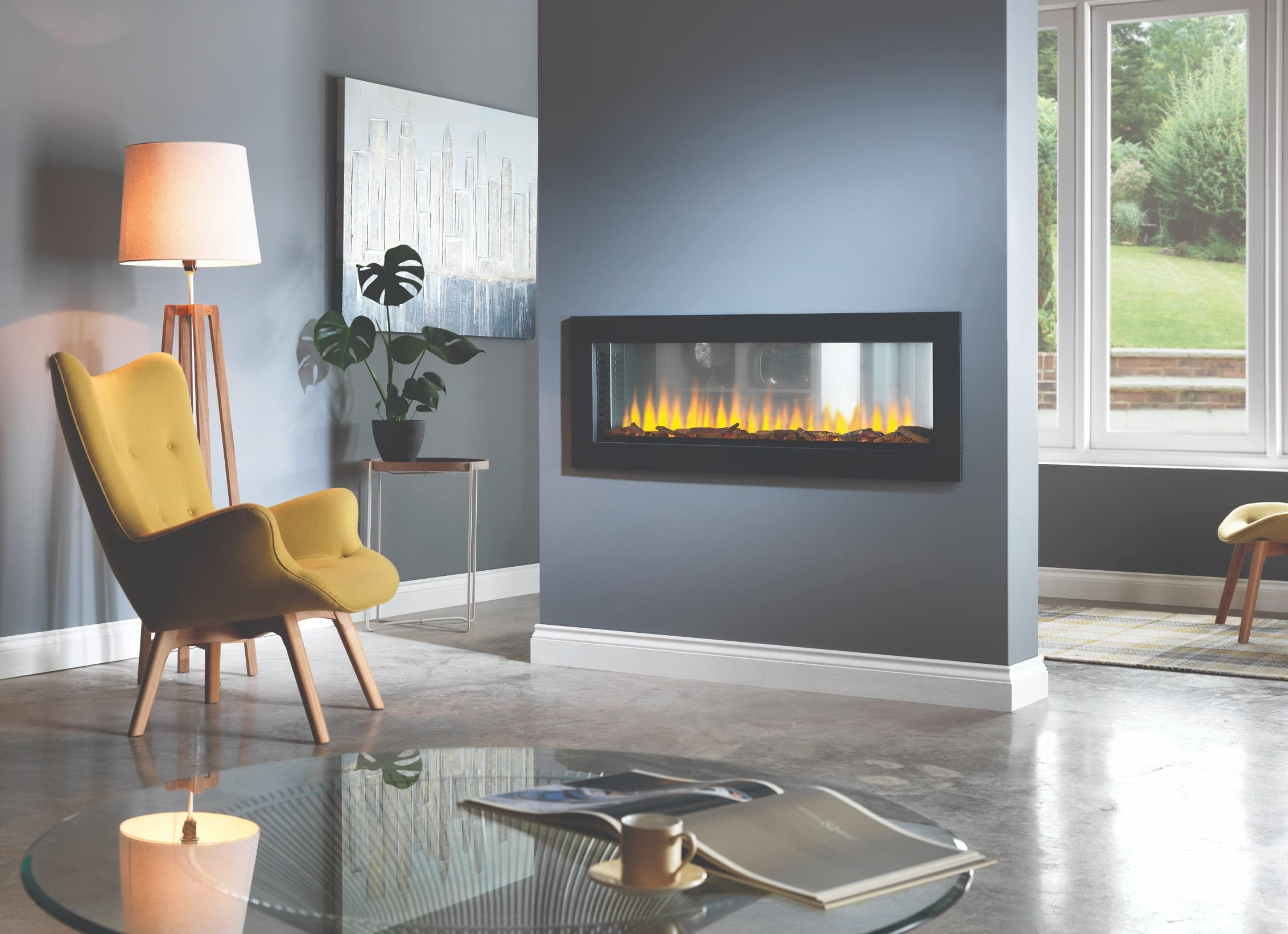 SLE125t Tunnel Hole in the Wall Electric Fire Double Sided